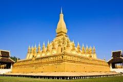 Golden Pagoda In Vientiane Royalty Free Stock Photo