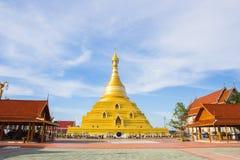 Golden pagoda at Kampangpetch province Royalty Free Stock Photos