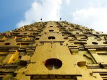 Golden pagoda Kanchanaburi Province Royalty Free Stock Photography
