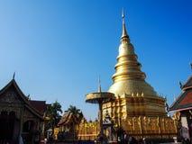Golden pagoda. At Lampang Thailand Stock Image