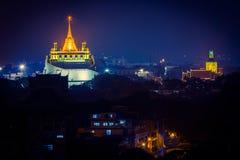 Golden pagoda. Landmark, golden pagoda at night Royalty Free Stock Images