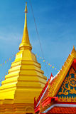 Golden pagoda Lanna style Royalty Free Stock Image