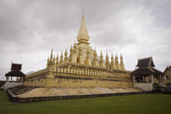 Golden pagoda in laos Royalty Free Stock Photography