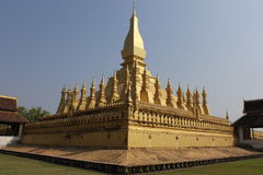 Golden Pagoda. This golden pagoda is in Laos. It is used for keeping some of the Buddha bones Stock Images