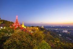 Golden Pagoda on Mandalay Hill, Mandalay, Myanmar Royalty Free Stock Images