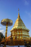 Golden pagoda. On a mountain in Thailand Stock Image