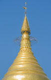 Golden pagoda, Myanmar Stock Photo