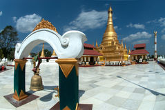 Golden Pagoda in new capital city in Myanmar . Royalty Free Stock Image