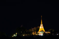Golden Pagoda in the Night Royalty Free Stock Photo