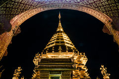 Golden pagoda. At night in silence Royalty Free Stock Images