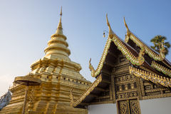Golden pagoda. Partner church in Thailand Stock Photo
