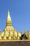 The golden pagoda Pha That Luang Stock Photo