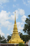 Golden pagoda in Phra That Chae Haeng temple, thailand Royalty Free Stock Image