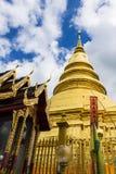Golden Pagoda, Phra That Hariphunchai Stock Photos