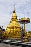 Golden Pagoda, Phra That Hariphunchai Stock Photography