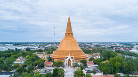 Golden pagoda Phra Pathom Chedi of Nakhon Pathom province Asia T royalty free stock photo