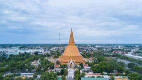 Golden pagoda Phra Pathom Chedi of Nakhon Pathom province Asia T stock photo