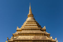 Golden pagoda pinnacle Stock Photo