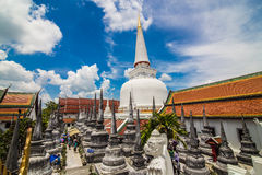Golden pagoda in Place of worship for buddhism at southern of th Royalty Free Stock Photography