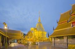 Golden pagoda of popular temple Stock Photo