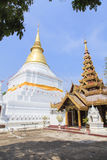 Golden pagoda at Prakaew dontao temple Royalty Free Stock Images