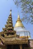 Golden pagoda at Prakaew dontao temple Royalty Free Stock Photos