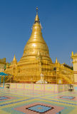 Golden pagoda in Sagaing hill, Myanmar Stock Image