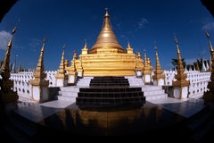 Golden Pagoda in Sanda Muni Paya in Myanmar. Royalty Free Stock Image
