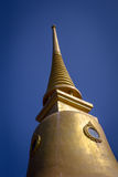 Golden pagoda on the sky background, thailand Royalty Free Stock Images
