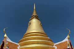 Golden pagoda on the sky background, thailand Royalty Free Stock Photo