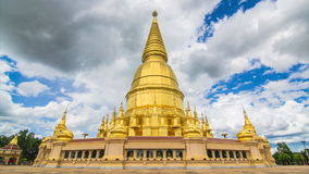 Golden Pagoda Sri Vieng Chai Of Lamphun, Thailand (time lapse) stock video footage