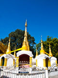 Golden pagoda in Tai Yai style in Wat Klang, Pai in Mae Hong Son Stock Photos