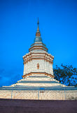 Golden pagoda. In the temple Stock Photography