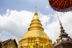 The Golden Pagoda in Temple Royalty Free Stock Image