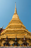 Golden pagoda in temple of the Emerald Buddha Stock Photo