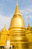 Golden pagoda in Temple of Emerald Buddha. Or Wat Phra Keaw Stock Photo