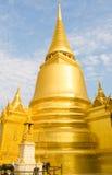 Golden pagoda in Temple of Emerald Buddha Stock Photo