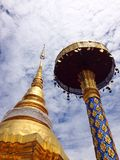 Golden Pagoda in temple Royalty Free Stock Images