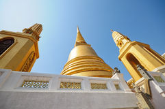 Golden pagoda, Temple in Thailand Stock Image