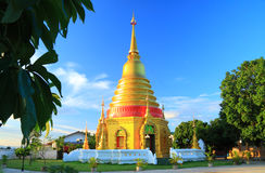 Golden pagoda at temple ,Thailand Royalty Free Stock Photos