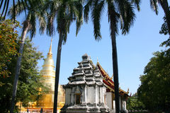Golden Pagoda  temple in Thailand Stock Photo