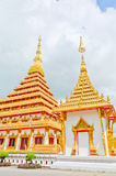Golden pagoda at the Thai temple. Khonkaen Thailand Stock Photography