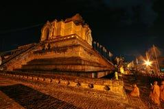Golden Pagoda. In Thai temple Stock Photo