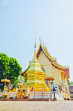 Golden pagoda at the Thai temple, Khonkaen. Golden pagoda at the Thai temple, Buddha church at the Thai temple style Royalty Free Stock Photography