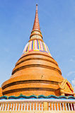 Golden pagoda at the Thai temple, Khonkaen Thailand. A Golden pagoda at the Thai temple, Khonkaen Thailand Stock Photo