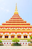 Golden pagoda at the Thai temple, Khonkaen Thailand Royalty Free Stock Photo