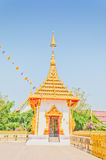 Golden pagoda at the Thai temple, Khonkaen Thailand. The Golden pagoda at the Thai temple, Khonkaen Thailand Stock Photo