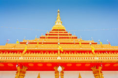 Golden pagoda at the Thai temple, Khonkaen Thailand Stock Photos