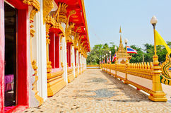 Golden pagoda at the Thai temple, Khonkaen Thailand. The Golden pagoda at the Thai temple, Khonkaen Thailand Royalty Free Stock Image