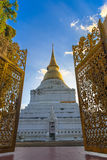 Golden pagoda in Thai temple Royalty Free Stock Images